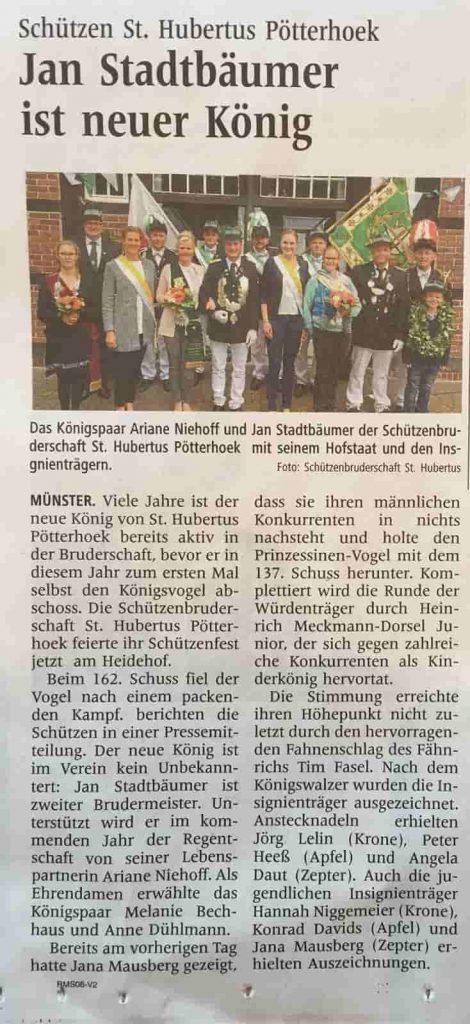 Pressemeldung Schuetzenfest 2018